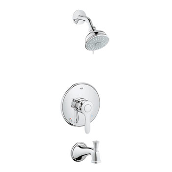 Grohe 35040 EN0 Parkfield Pressure Balance Valve Shower Combination - Brushed Nickel (Pictured in Chrome)