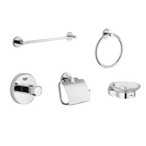 Grohe 40 344 EN0 Essentials Accessory Kit - Brushed Nickel (Pictured in Chrome)