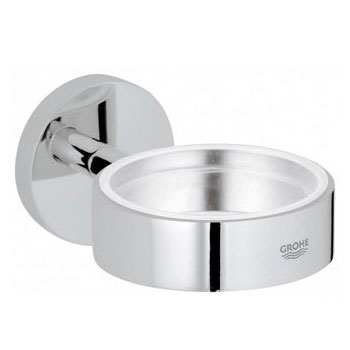 Grohe 40 369 EN0 Essentials Soap Dish Holder - Brushed Nickel (Pictured in Chrome)