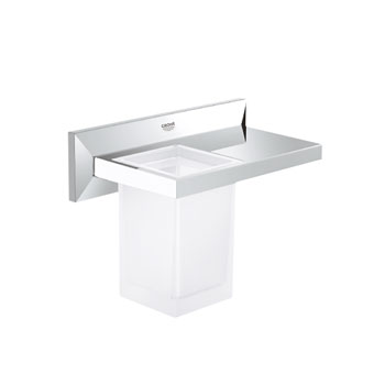 Grohe 40503 000 Allure Brilliant Shelf with Tumbler - Chrome
