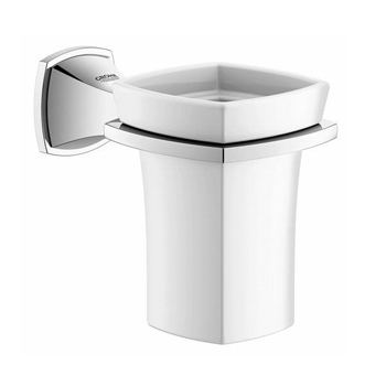 Grohe 40626000 Grandera Ceramic Tumbler with Holder - Chrome