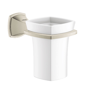 Grohe 40626EN0 Grandera Ceramic Tumbler with Holder - Brushed Nickel