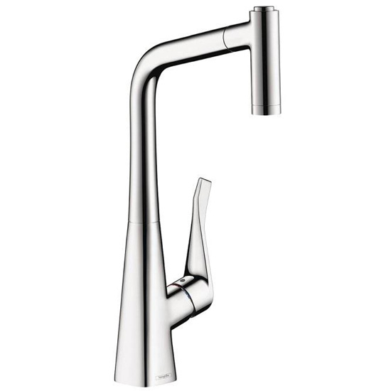 hansgrohe 14820001 metris kitchen pull out faucet chrome. Black Bedroom Furniture Sets. Home Design Ideas