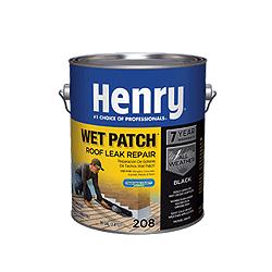 Henry 208 Wet Patch Roof Leak Repair Cement Quart Black