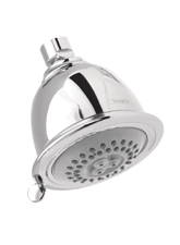 Hansgrhoe 06126930 Retroaktiv 2-Jet Showerhead - Polished Brass (Pictured in Chrome)