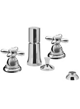 Hansgrhoe 17224820 Axor Carlton Vertical Bidet Mixer w/Cross Handles - Brushed Nickel (Pictured in Chrome)