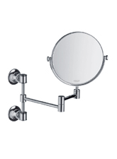 Hansgrhoe 42090820 Axor Montreux Pull-Out Shaving Mirror - Brushed Nickel (Pictured in Chrome)
