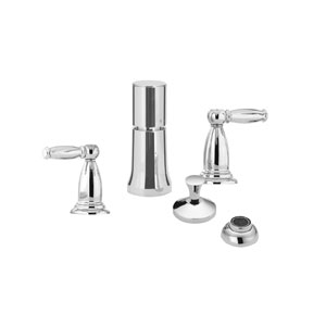 Hansgrohe 04055830 Swing C Vertical Bidet Mixer with Lever Handles - Polished Nickel (Pictured in Chrome)