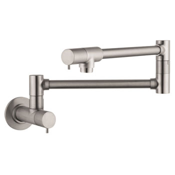 Hansgrohe 04057860 Talis S Wall-Mounted Pot Filler - Steel Optik