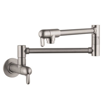Hansgrohe 04059860 Allegro E Wall-Mounted Pot Filler - Steel Optik