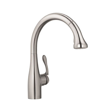 Hansgrohe 04066860 Allegro E Gourmet Pull Down Kitchen Faucet - Stainless Steel Optik