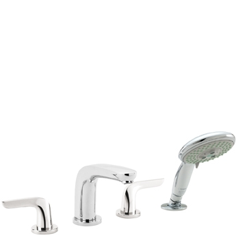 Hansgrohe 04184000 Allegro E Two Handle Roman Tub Faucet Trim with Handshower - Chrome