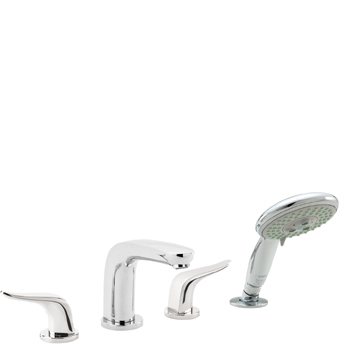 Hansgrohe 04197000 Metro E 4 Hole Roman Tub Trim with Handshower - Chrome