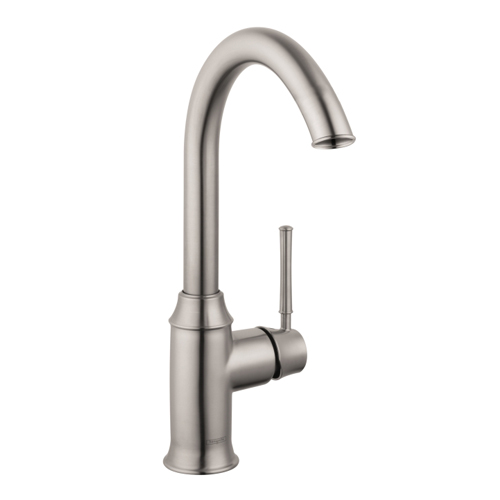 Hansgrohe 04217800 Talis C Bar Faucet - Steel Optik - FaucetDepot.com