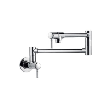 Hansgrohe 04218800 Talis C Pot Filler Wall Mounted - Steel Optik (Pictured in Chrome)
