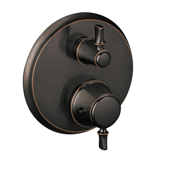 Hansgrohe 04221920 C Thermostatic Trim with Volume Control and Diverter - Rubbed Bronze