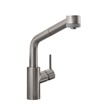 Hansgrohe 04247800 Talis S SemiArc Pullout Kitchen Faucet - Steel Optik