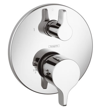 Hansgrohe 04353000 S/E Thermostatic Trim with Volume Control and Diverter - Chrome