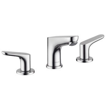 hansgrohe focus 100 widespread lavatory faucet chrome