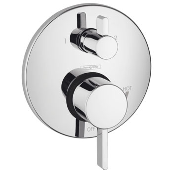 Hansgrohe 04447820 S Pressure Balanced Valve Trim Only with Diverter - Brushed Nickel (Pictured in Chrome)