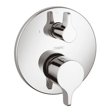 Hansgrohe 04448000 Metris E Pressure Balanced Valve Trim Only with Diverter - Chrome
