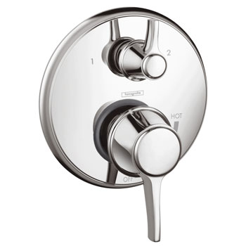 Hansgrohe 04449820 Metris C Pressure Balanced Valve Trim Only with Diverter - Brushed Nickel (Pictured in Chrome)