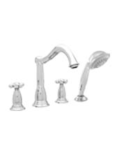 Hansgrohe 06048820 Tango 4-Hole Roman Tub Filler with Handshower (Trim Only) - Brushed Nickel (Pictured in Chrome)