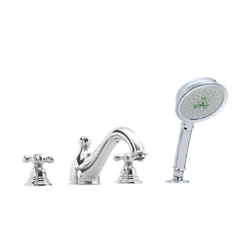Hansgrohe 06113000 Limbo 4-Hole Roman Tub Filler with Handshower - Chrome