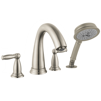 Hansgrohe 06123820 Swing C 4-Hole Roman Tub Filler with Handshower (Trim Only) - Brushed Nickel