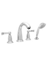 Hansgrohe 06124820 Swing 4-Hole Roman Tub Filler with Handshower - Brushed Nickel (Pictured in Chrome)
