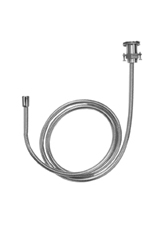 Hansgrohe 06438820 Deck Mounted Metal Hose Pull Out Set, Holder and Elbow - Brushed Nickel (Pictured in Chrome)