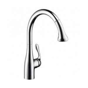 Hansgrohe 06460860 Allegro Gourmet Pull Down Kitchen Faucet - Steel Optik (Pictured in Chrome)