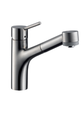 Hansgrohe 06462000 Talis Single-Hole Pull-Out Kitchen Faucet - Chrome (Pictured in Steel Optik)