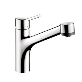 hansgrohe 06462001 talis single pull out kitchen