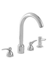 Hansgrohe 06568000 Metro 4-Hole Kitchen Faucet with Soap Dispenser - Chrome