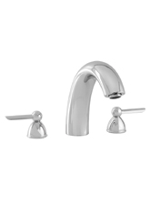 Hansgrohe 06574820 Stratos 3-Hole Roman Tub Filler (Trim Only) - Brushed Nickel (Pictured in Chrome)