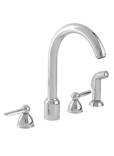 Hansgrohe 06597000 Stratos 4-Hole Kitchen Faucet with Veggie Sprayer - Chrome