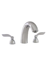 Hansgrohe 06630820 Solaris 3-Hole Roman Tub Filler - Brushed Nickel (Pictured in Chrome)