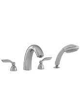 Hansgrohe 06665820 Solaris 4-Hole Roman Tub Filler with Handshower - Brushed Nickel (Pictured in Chrome)