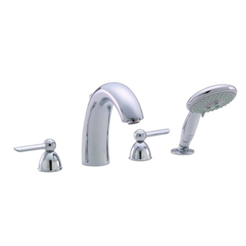 Hansgrohe 06667000 Stratos 4-Hole Roman Tub Filler with Handshower (Trim Only) - Chrome