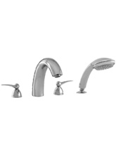 Hansgrohe 06669820 Metro 4-Hole Roman Tub Filler with Handshower - Brushed Nickel (Pictured in Chrome)