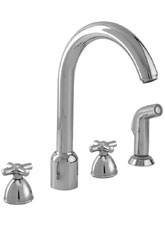 Hansgrohe 06858000 Interaktiv 4-Hole Kitchen Faucet with Veggie Sprayer - Chrome