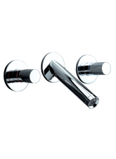 Hansgrohe 10313821 Axor Starck Wall Mounted Widespread Lavatory Faucet - Brushed Nickel (Pictured in Chrome)