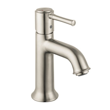 Hansgrohe 14111821 talis c single hole faucet brushed nickel for Hansgrohe talis bathroom faucet