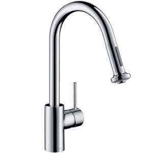 Hansgrohe 14877801 Talis S 2 Kitchen Faucet with Pull Down 2 Sprayer - Steel Optik (Pictured in Chrome)