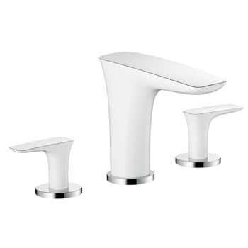 Hansgrohe 15440001 PuraVida 3-Hole Roman Tub Set Trim - Chrome (Pictured in White/Chrome)