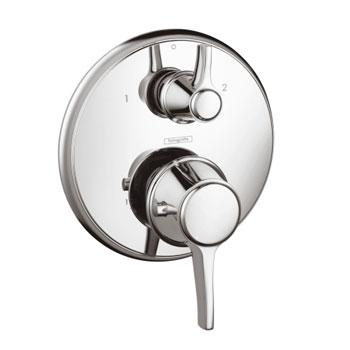 Hansgrohe 15752001 C Thermostatic Trim with Volume Control - Chrome