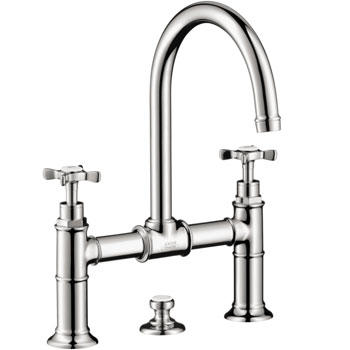 Hansgrohe 16510001 Axor Montreux Widespread Bridge Lavatory Faucet - Chrome