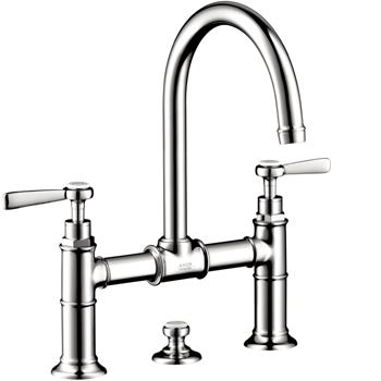 Hansgrohe 16510001 Axor Montreux Widespread Bridge Faucet with Lever Handles - Chrome