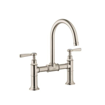Hansgrohe 16510821 Axor Montreux Widespread Bridge Faucet with Lever Handles - Brushed Nickel